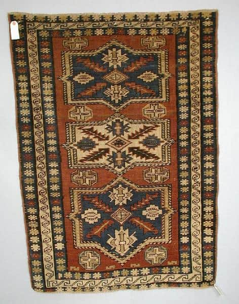 Derbend rug 1920-30. (Woolley & Wallis 17 January 2002)