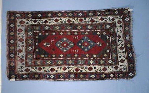 Kazak Lambalo 1921 WoolleyWallis 600x374 - Woolley & Wallis Rugs and Carpets auction 17 January 2002