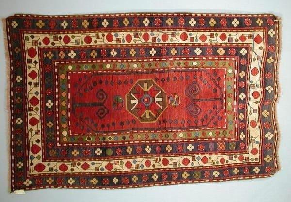 Lambalo Kazak 1900 WoolleyWallis 600x417 - Woolley & Wallis Rugs and Carpets auction 17 January 2002