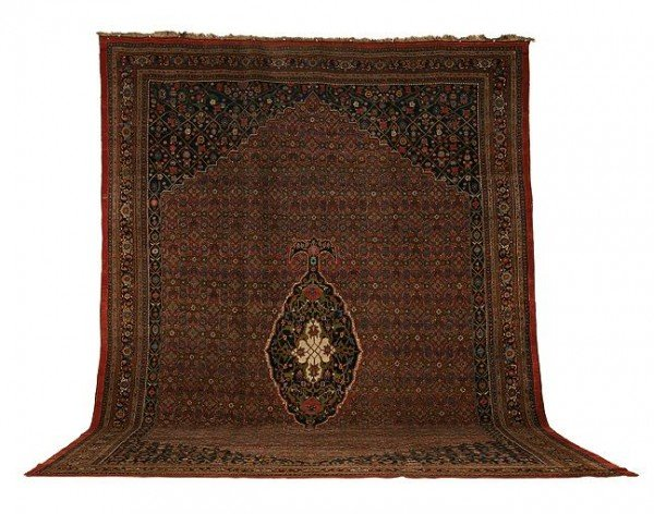 Bidjar 1890 Sothesbys 600x472 - Selection from Sotheby's Rugs and Carpets auction 27 February 2002