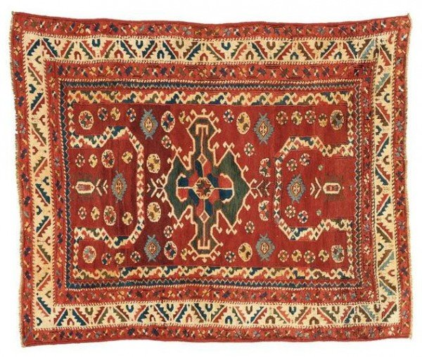"Bergama3q19L84Sothebys100402 600x508 - Preview ""Carpets"" - Sotheby's  Auction 10 April 2002 in New York"