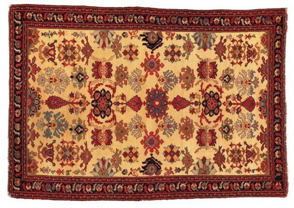 "Malayer1900L105Sothebys100402 600x425 - Preview ""Carpets"" - Sotheby's  Auction 10 April 2002 in New York"