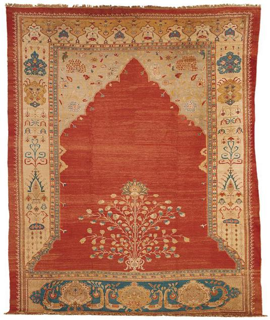 "ZieglerMahalMeditationL196Sothebys100402 - Preview ""Carpets"" - Sotheby's  Auction 10 April 2002 in New York"