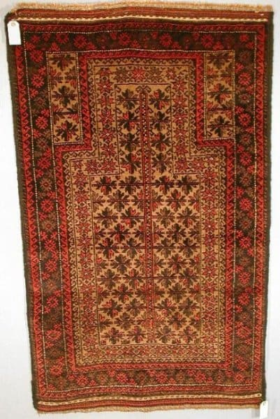 """299BaluchiPrayer1930 50WoolleyWallis - Preview """"Carpets, Rugs and Textiles sale"""" - Woolley & Wallis' auction 9 July 2002"""