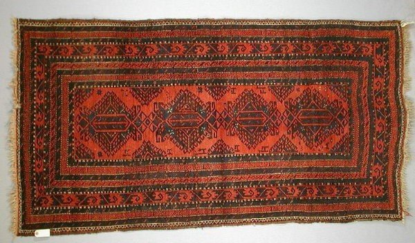 """302Baluchi1900 20WoolleyWallis 600x352 - Preview """"Carpets, Rugs and Textiles sale"""" - Woolley & Wallis' auction 9 July 2002"""