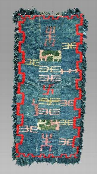 An unusually patterned 'tsuktruk' weaving from the plateau, woven on a narrow back strap loom.