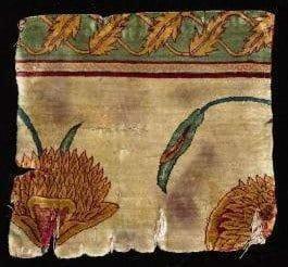 Mughal fragment1630 50 - Rare 1630-50 Mughal carpet fragment