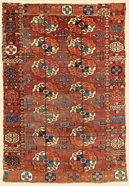 Tekke main carpet fragment