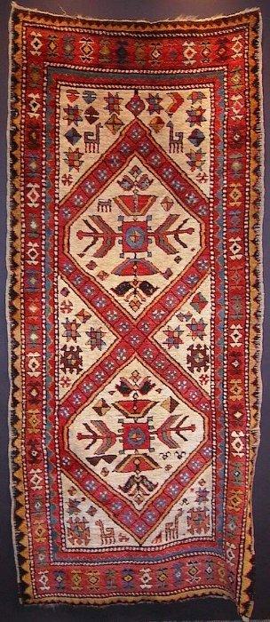 Azarbayjani pile rug, probably village work from East Azarbayjan.