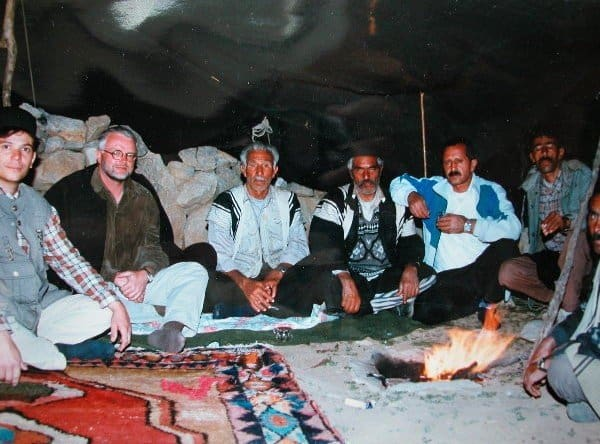 Inside the tent with Gabbeh 600x444 - Bakhtiari - travelling in Iran 1998