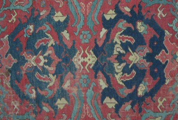 Detail 18-19th century Ushak carpet
