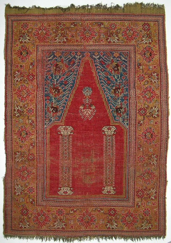 17-18th century Ghiordes prayer rug
