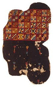 Tunic fragment. Peru, South Highlands, Colonial Inca style. The Textile Museum 91.8. Acquired by George Hewitt Myers in 1940.