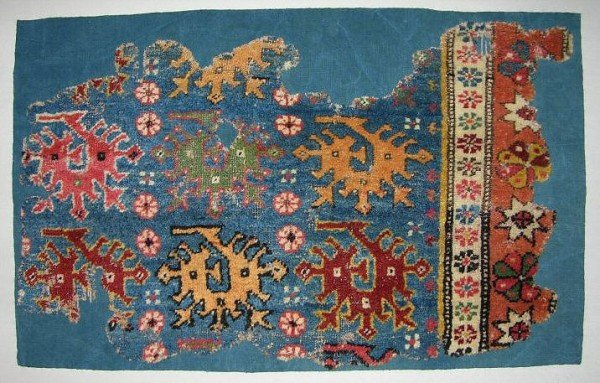 Carpet fragment 17-18th century