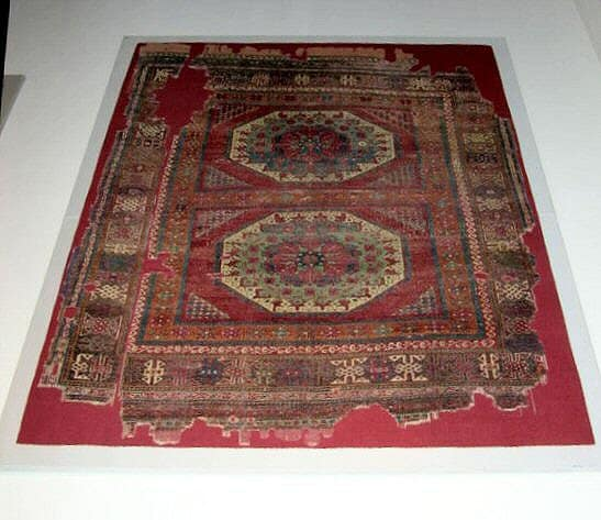 Large medallion Holbein carpet
