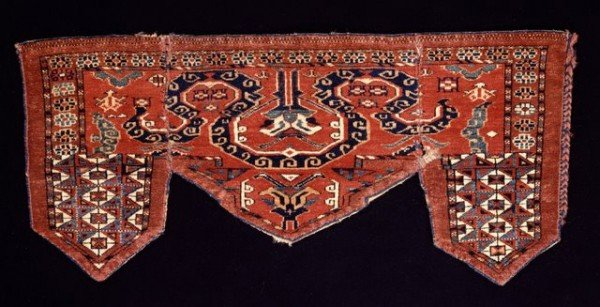Cameltrapping khalyk (Masterpieces of Turkmen Weaving at de Young Museum)