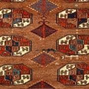 Detail Yomud main carpet ca 1860.