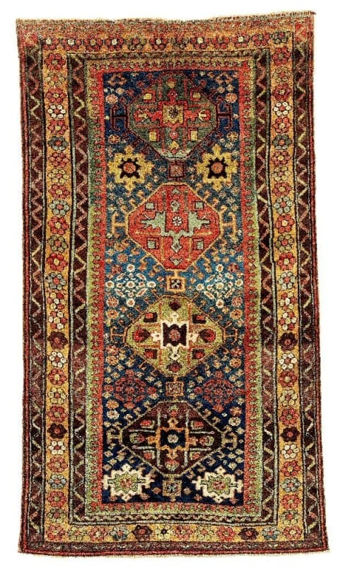 Lot 111, a Kurdish rug second half 19th century. Size 241 x 137 and estimate 5,800 EUR