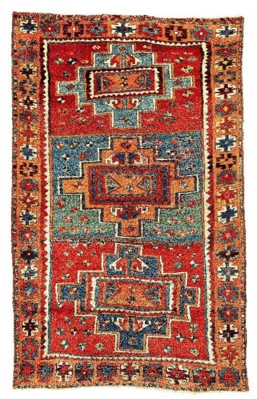 Lot 94, a Anatolian Yoruk mid 19th century. Size 206 x 124 cm and estimate 7,500 EUR