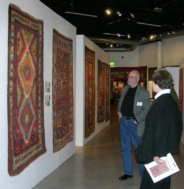 Lars Jurell, AKREP, in front of a Kazak rug