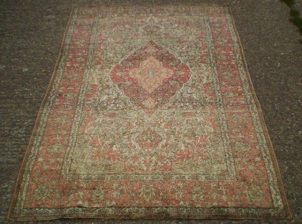 Silk Kashan rug, Central Persia, circa 1900. Exhibitor Joshua Lumley.