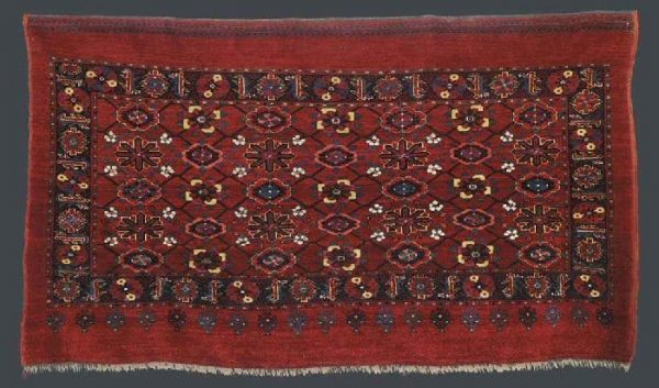 152a lebab turkman part silk tent bag front panel probably ersari middle d5419791g 600x353 - More Ersari rugs V
