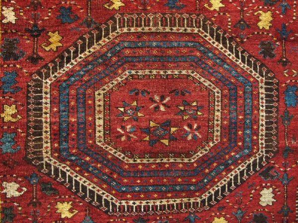 Detail Beshir rug second half of 19th century. Exhibitor Marvadim.