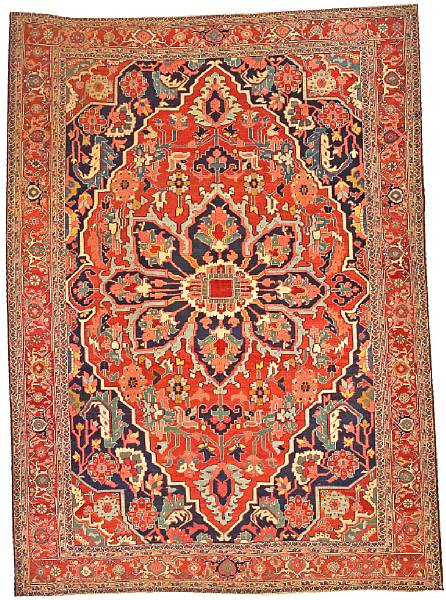 Lot 6206, a Serapi carpet Northwest Persia size approximately 9ft. 4in. x 13ft. Estimate: $11,000 – 13,000