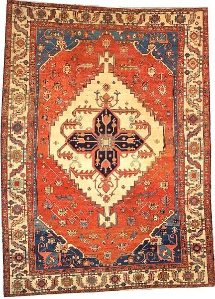 Lot 6256, a Serapi carpet Northwest Persia, size approximately 9ft. 3in. x 12ft. 7in. Estimate: $6,000 – 10,000