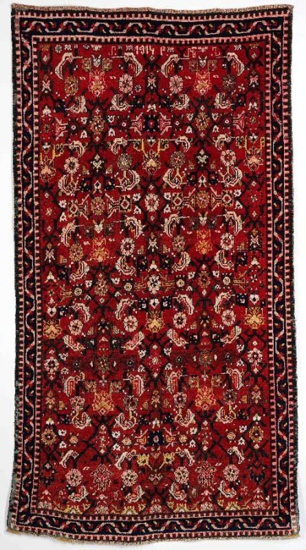Karabagh rug, Caucasus. With initials and dated 1914. Est. Euro 1100-1400.-