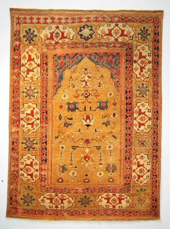 A rare 17th century Transylvanian rug in excellent condition. Exhibitor Peter Willborg.