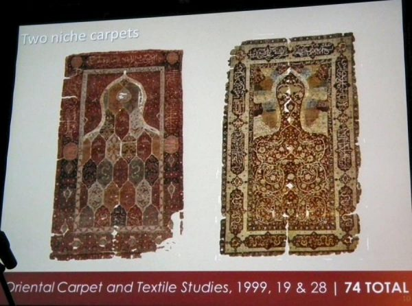 Illustration from Jessica Halletts lecture: Two Salting niche carpets.
