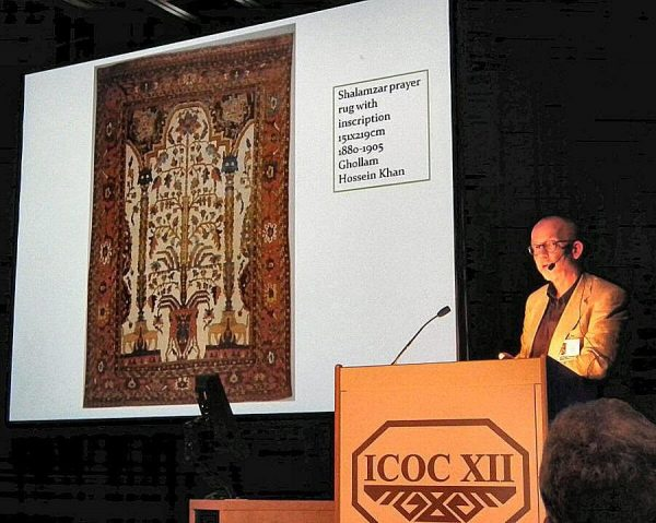 Peter Willborg speaking about rug production in the Bakhtiari Province.