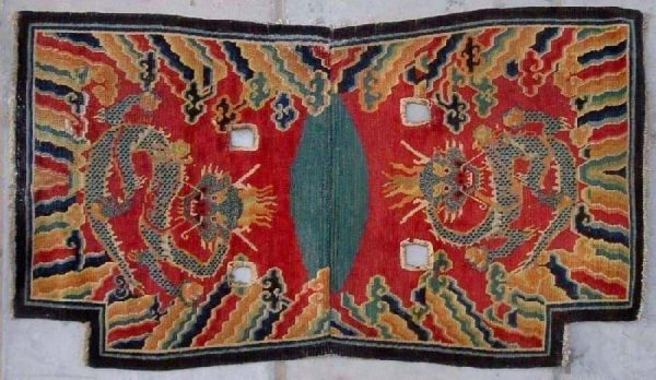 Tibetan Imperial under saddle rug late 19th / early 20th century