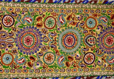 Shahrisabz suzani 2 half 20 c. 480x333 - Suzanis – the world of magic and beauty