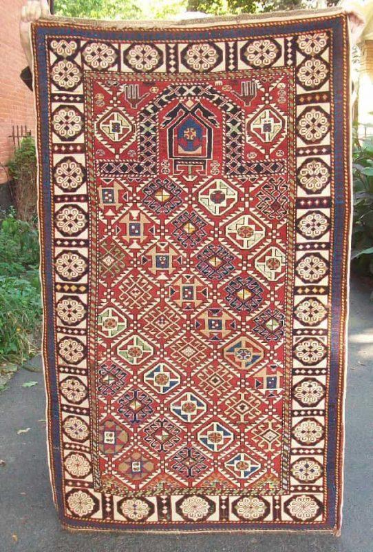 19 century Shirvan prayer rug. Exhibitor Rodney McDonald.