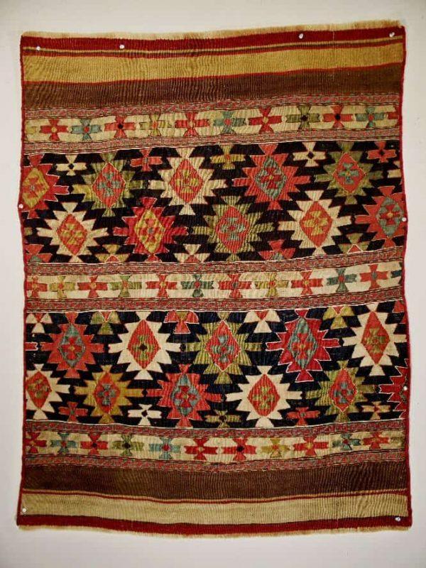 "Moghan-Savalan Side Panel. Size: 3' x 3'11"" circa 1880. Exhibitor Edward Koch, Herat Gallery."