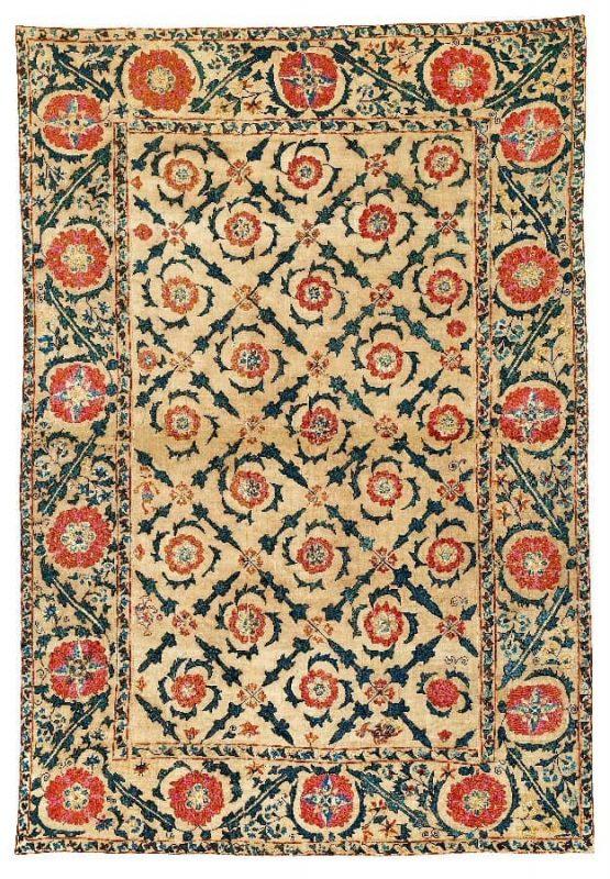 Lot 145, a 18th century Bokhara Suzani. Size 231×157 cm. Estimate 19,000 EUR.