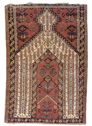 Beshir prayer rug. Photo courtesy Christies.