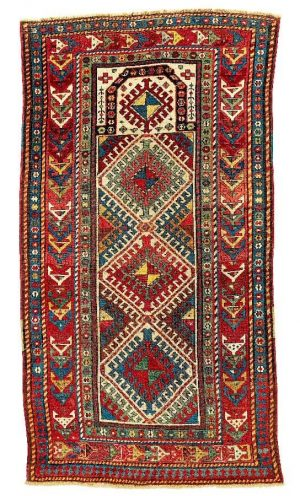 Karabagh prayer rug. Photo courtesy Rippon Boswell.