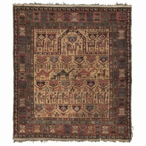 Shirvan prayer rug 1890. Photo courtesy Sothebys.