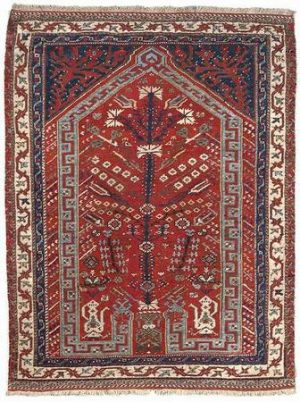 Anatolian Ushak prayer rug 18th century. Photo courtesy Nagel.