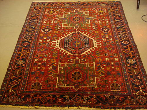 Lot 278, a Karaja rug, North West Persia, 175cm x 140cm Estimate: £300 – 500, € 350 – 580