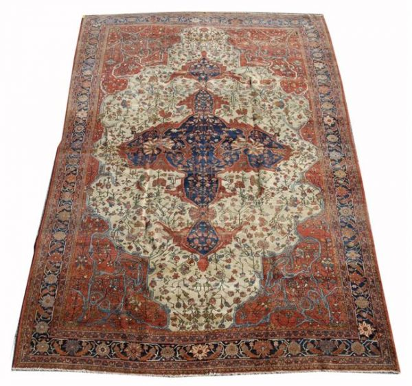 Lot 1012. SAROUK FEREGHAN CARPET, Persia, circa 1890; 12 feet 7 inches x 8 feet 6 inches; Estimate $5,000-7,000