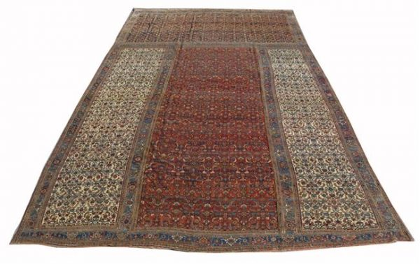 Lot 1077. BIDJAR TRICLINIUM CARPET, Persia, circa 1890; 15 feet x 25 feet 6 inches Estimate $5,000-10,000