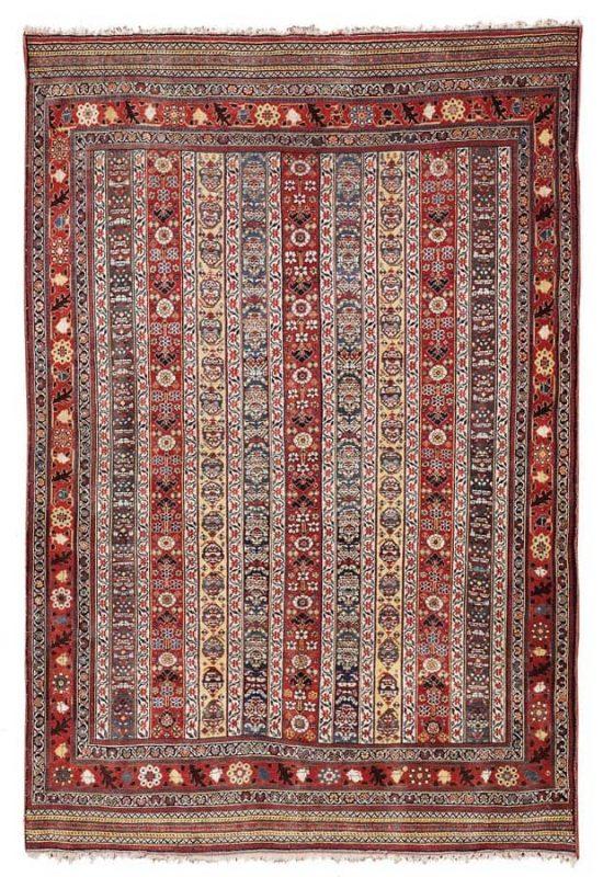 Lot 79, a Qashqai, South-Western Persia 175 x 125 cm, circa 1870. Estimate 20.000 – 25.000 EUR