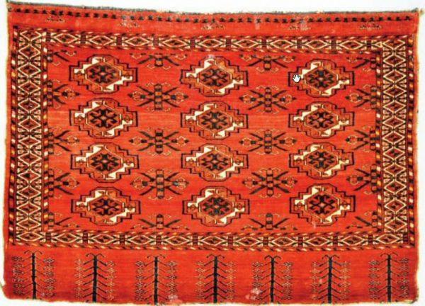 Lot 1954, a Kizil Ayak Turkmen chuval second half 19th century. Estimate 1.500 – 2.000 GBP. Sold for 3.200 GBP.