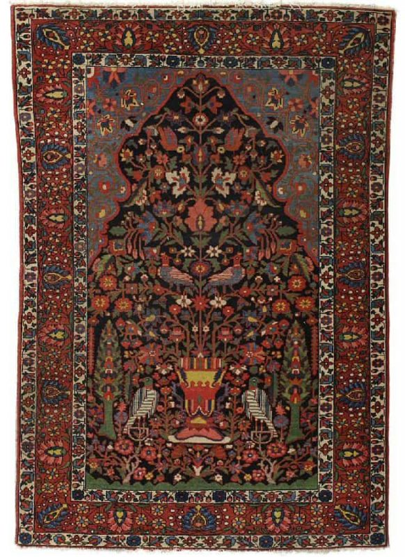 Lot 362, BAKHTIARI, Central Persia, 1930s-40s. 206×146 cm. Estimate 6.000 SEK