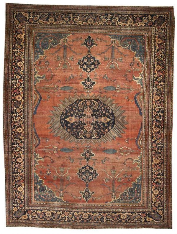 Lot 4154, a Fereghan Sarouk carpet Central Persia size approximately 9ft. 3in. x 12ft. 3in. Estimate: US$ 5,000 – 7,000