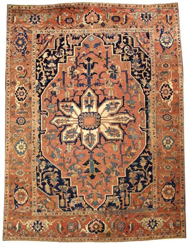 4168 600x775 - More Serapi rugs II